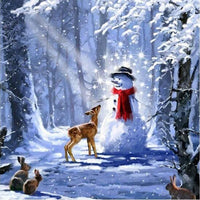 2019 5D DIY Diamond Painting Kits Christmas Snowman VM92021