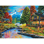 5D DIY Diamond Painting Kits Mosaic Cross Stitch Autumn House VM90548