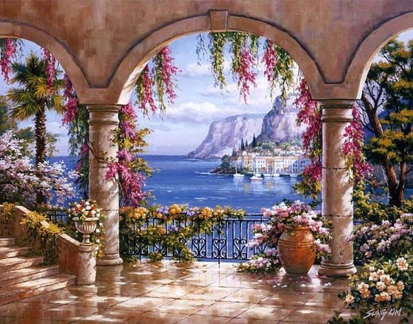 5D DIY Diamond Painting Kits Seaside Scenery VM5016