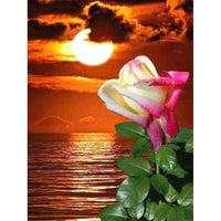 2019 5D Diy Diamond Painting Kits Cross Stitch Sunset Flower VM90352