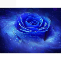 5D DIY Diamond Painting Mosaic Art Cross Stitch Kits Flower Blue Rose VM90968