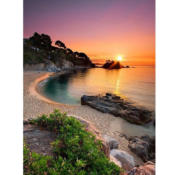 219 5D DIY Diamond Painting Kits Landscape Sea Side VM90357