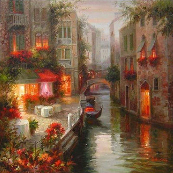 2019 5D DIY Diamond Painting Kits Embroidery Venice Town Scenic VM92369