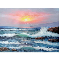2019 5D Diy Diamond Painting Kits Cross Stitch Mosaic Sea Scenery VM90323