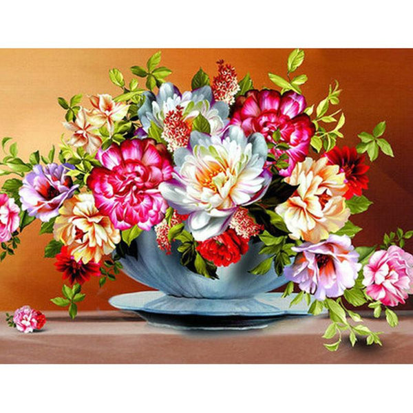 5D Diy Diamond Painting Kits Cross Stitch Rhinestones Peony VM92218
