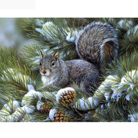 2019 5D Diy Diamond Painting Kits Cross Stitch Winter Squirrel VM9093