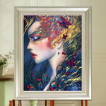 Peacock Makeup Embroidery Mosaic Cross Stitch 5D DIY Diamond Painting Kits