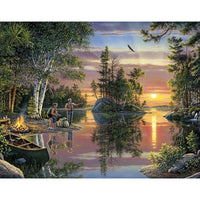 5D DIY Diamond Painting Kits Landscape Lakeside Embroidery VM92026