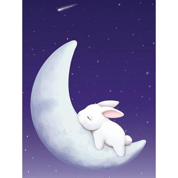 New Cartoon Moon Rabbit Cross Stitch 5D DIY Diamond Painting Kits VM92096