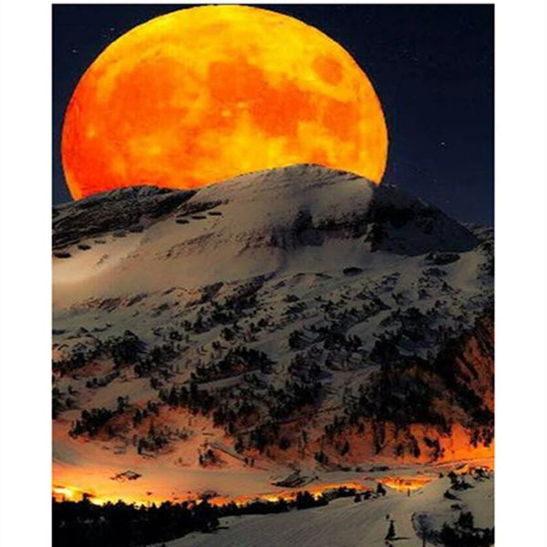2019 5D DIY Diamond Painting Kits Beautiful Moon Landscape  VM10001