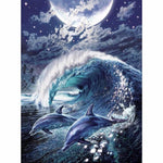 5D DIY Diamond Painting Kits Dolphin Moon VM90902