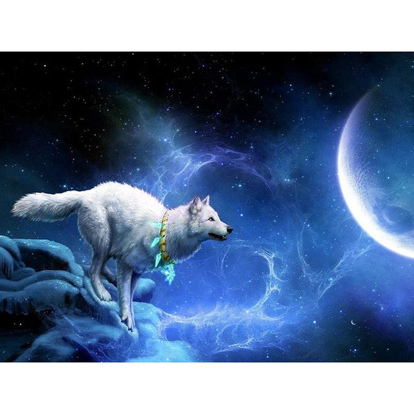 Dream Wolf Moon Pattern Embroidery Mosaic 5D DIY Diamond Painting Kits