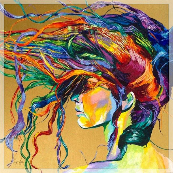 5d Diy Diamond Painting Kits Hair Modern Art Portrait VM1010 (1766930153562)