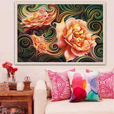 2019 5d Diy Diamond Painting Kits Pink Flower VM66865