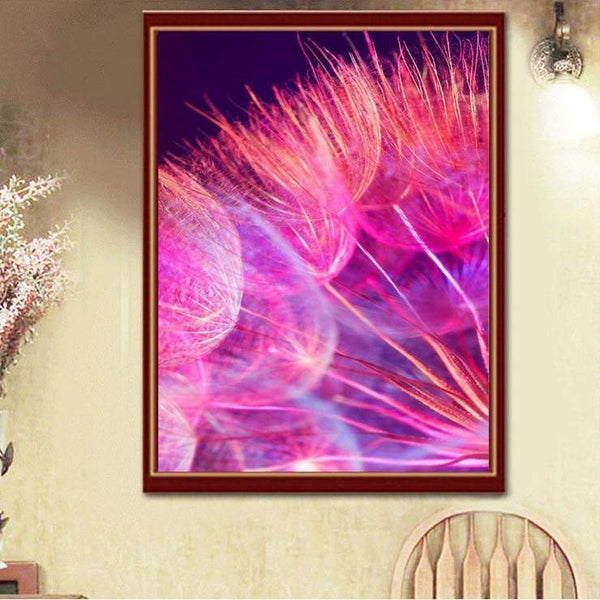 Mosaic Dream Cross Stitch Dandelion Diy 5d Diamond Painting Kits QB5170