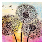 Oil Painting Style Cross Stitch Dandelion Diy 5d Crystal Diamond Painting Kits QB5151