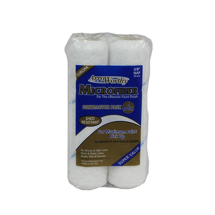 "Arroworthy Microfiber 9x3/8"" Rollers (4 Pack), available at Johnson Paint in MA, NH and ME."