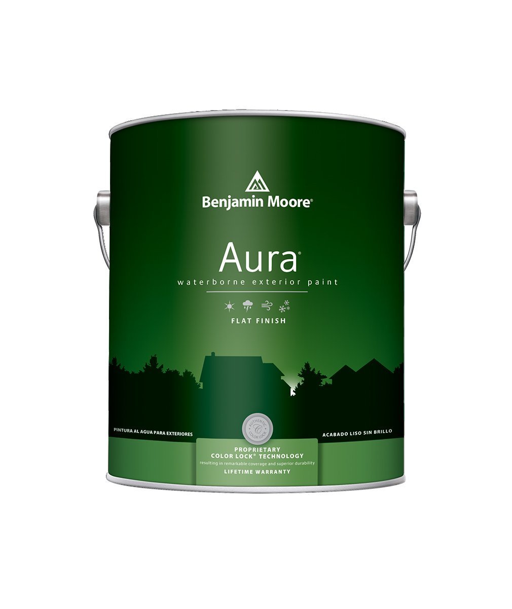 Benjamin Moore Aura Exterior Flat Paint , available at Johnson Paint & Maine Paint in MA, NH & ME.