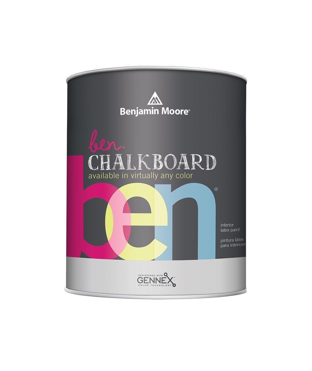 Benjamin Moore chalkboard paint available in Quart size available at Johnson Paint & Maine Paint in MA, NH & ME.