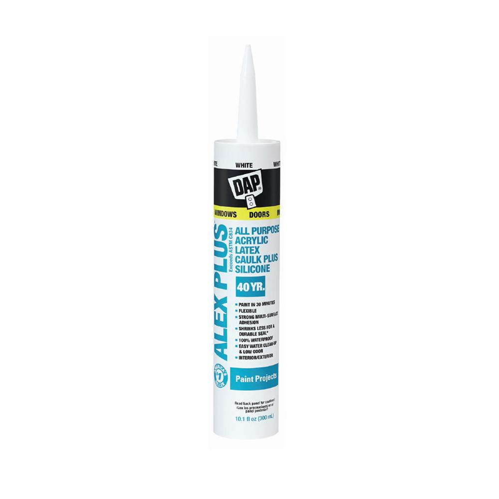 Dap Alex Plus caulking, available at Johnson Paint & Maine Paint in MA, NH & ME.