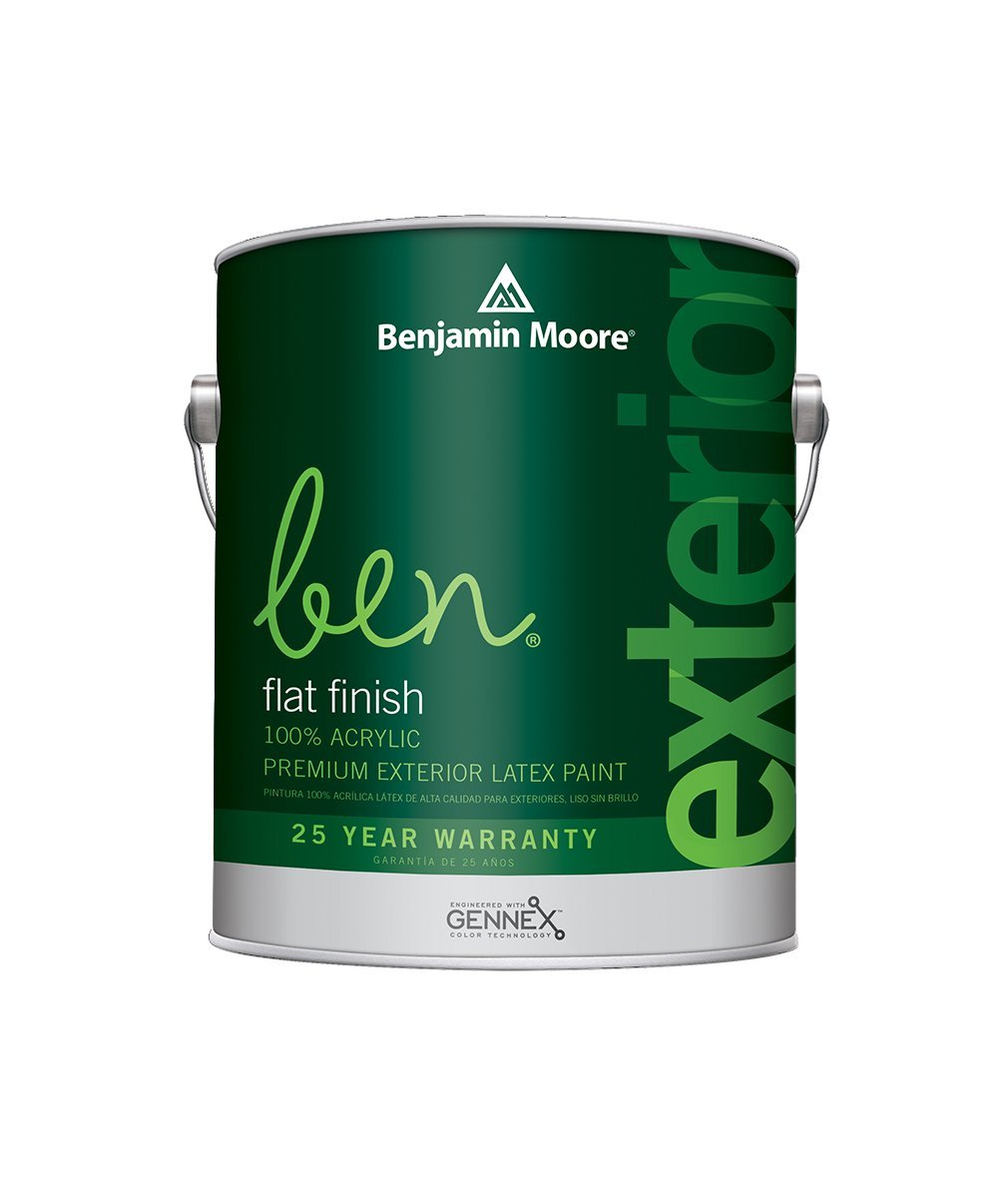 Benjamin Moore Ben Flat Exterior Paint available at Johnson Paint & Maine Paint in MA, NH & ME.