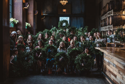 Asheville Folk Wreath Making Class