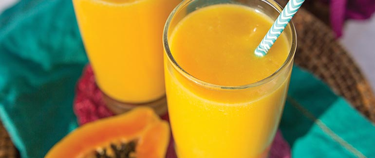 Brightened Up Mango Turmeric Smoothie