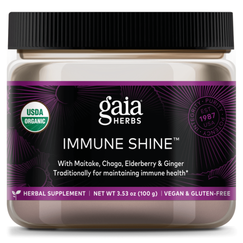 Gaia Herbs Immune Shine™ with Chaga mushroom benefits