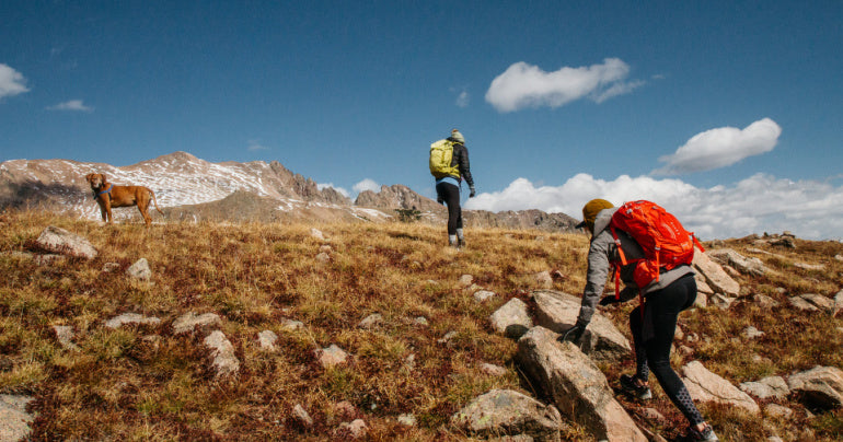 two hikers out to help with burnout and mental exhaustion