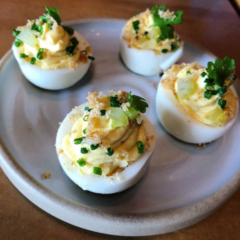 Deviled Eggs on plate