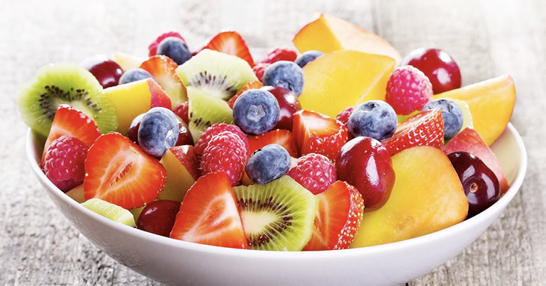 bowl of fruit for good digestive health