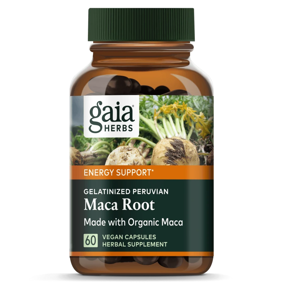 Bottle of Gaia Herbs for good health