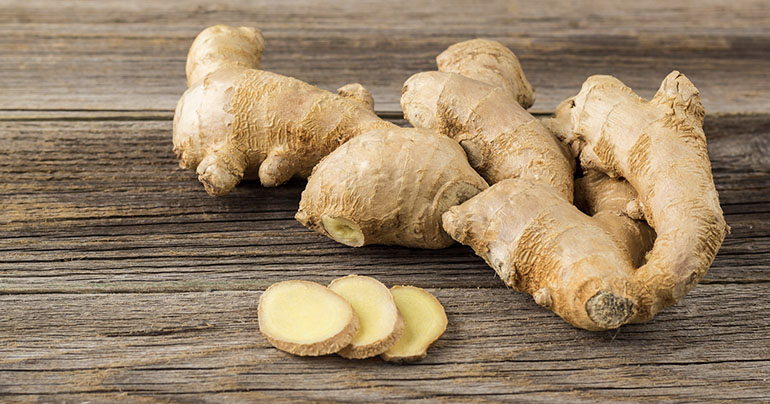 Ginger root is great herbs for pain
