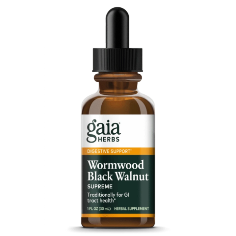 Gaia Herbs Wormwood Black Walnut Supreme made with herbs for pain