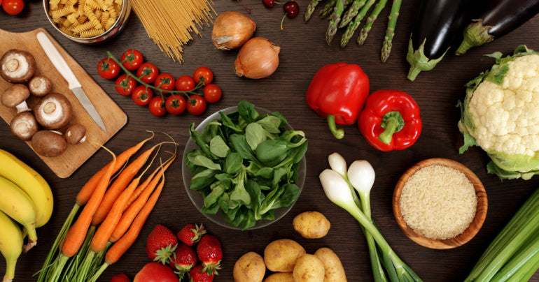 Fruits and vegetables for a weakened immune system