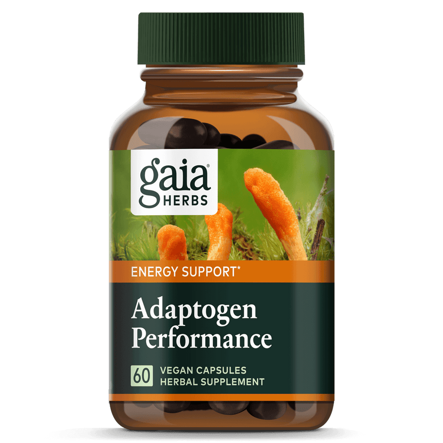 Gaia Herbs Adaptogen Performance Mushrooms & Herbs for Energy Support || 60 ct