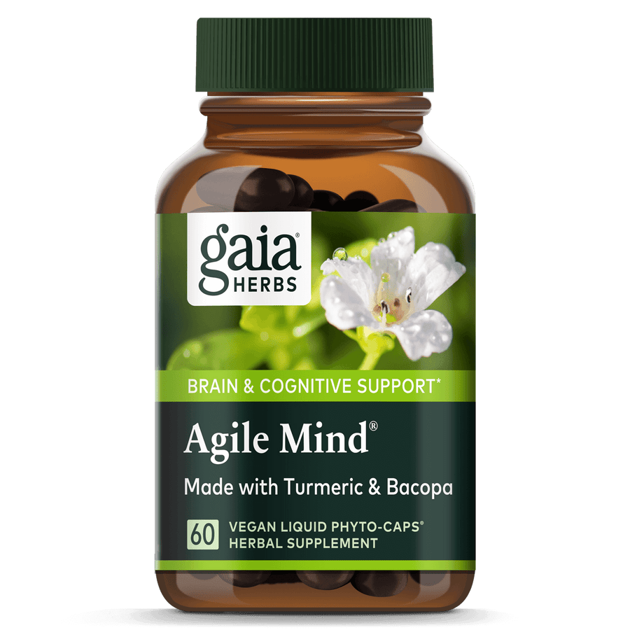Gaia Herbs Agile Mind for Brain & Cognitive Support || 60 ct