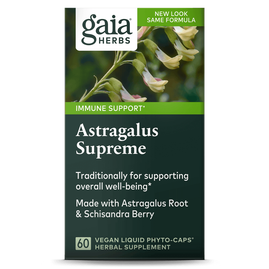 Gaia Herbs Astragalus Supreme for Immune Support || 60 ct