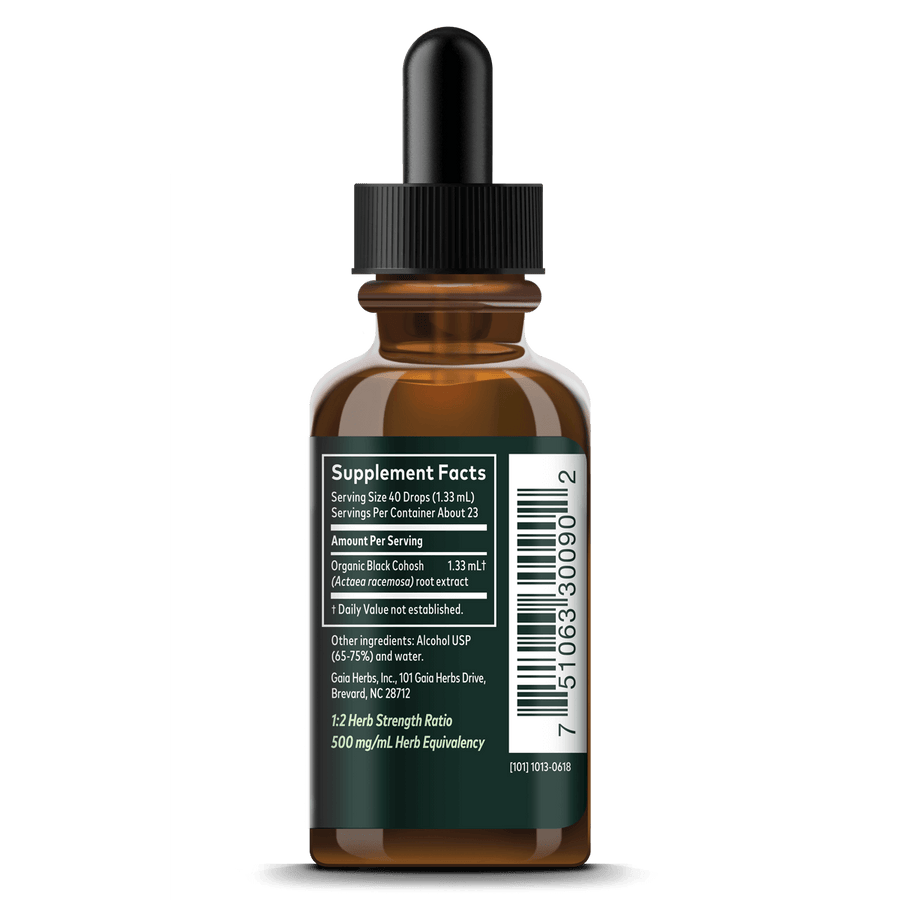 Gaia Herbs Black Cohosh Root supplement facts