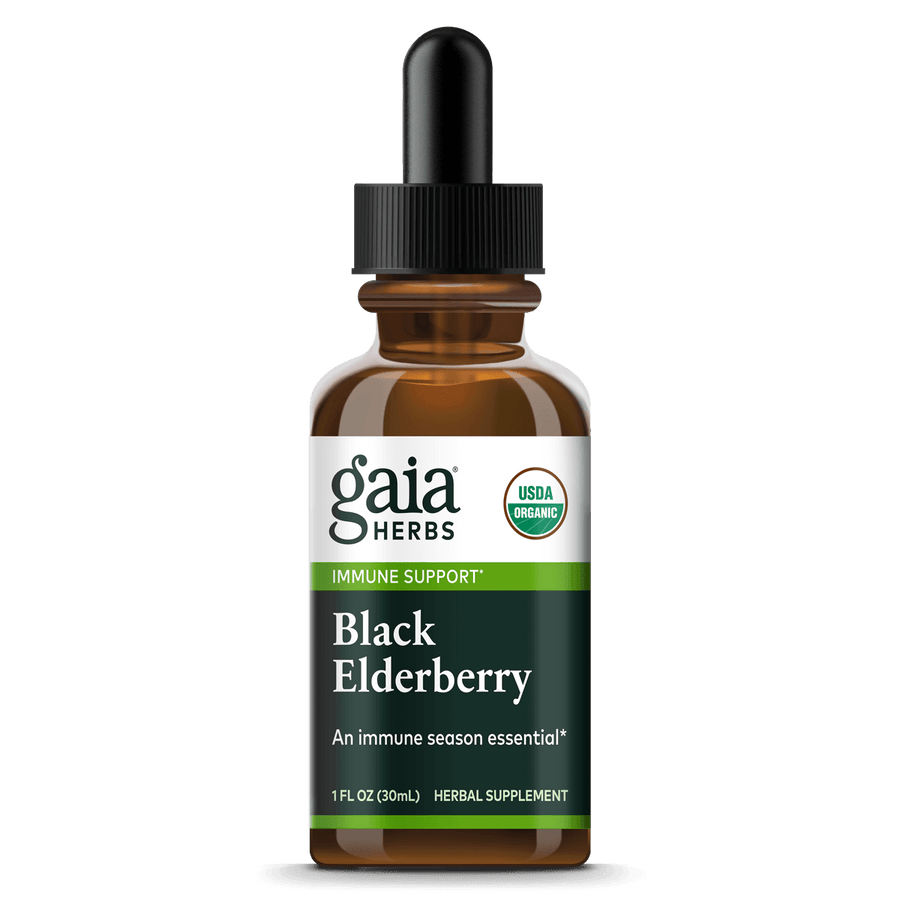 Gaia Herbs Black Elderberry, Certified Organic for Immune Support