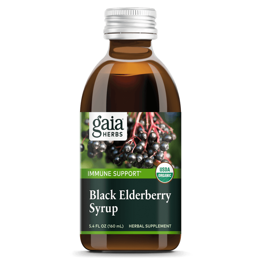 Gaia Herbs Black Elderberry Syrup for Immune Support || 5.4 oz