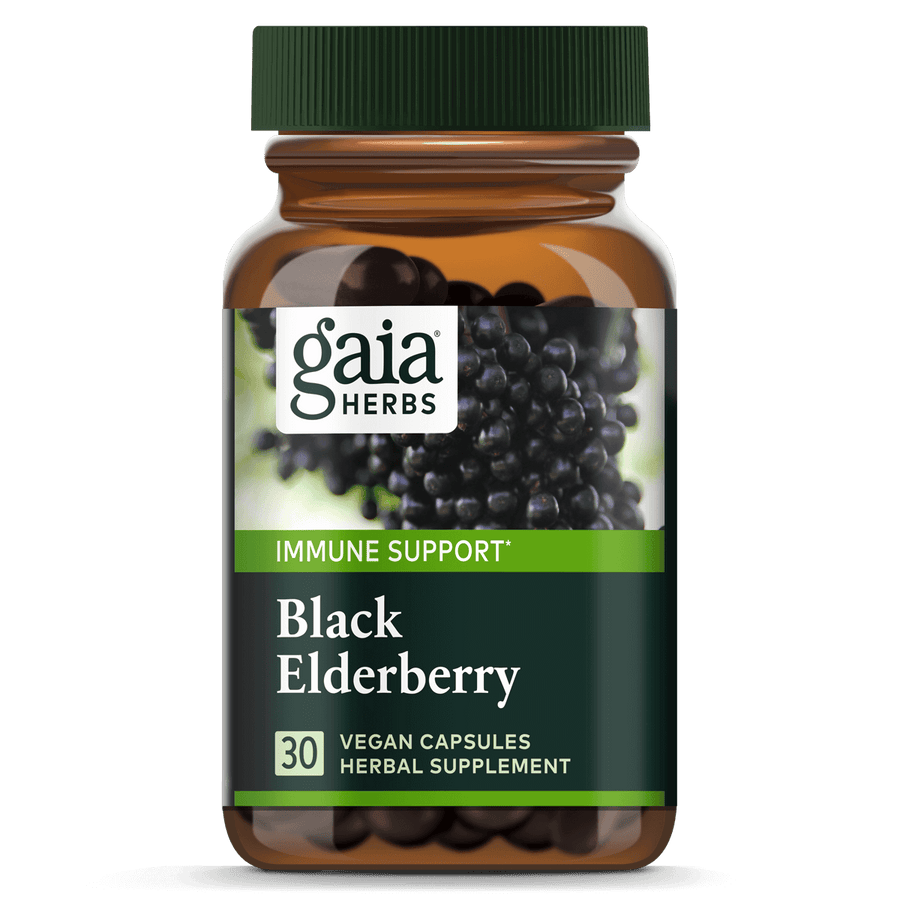 Gaia Herbs Black Elderberry for Immune Support || 30 ct