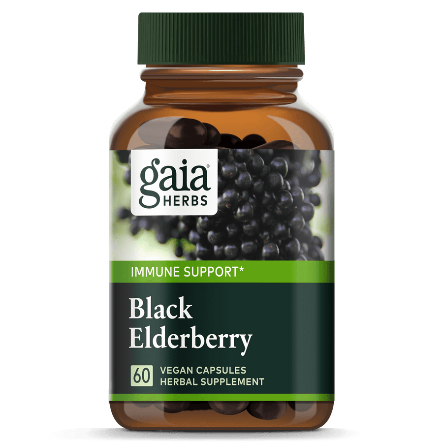 Gaia Herbs Black Elderberry for Immune Support || 60 ct