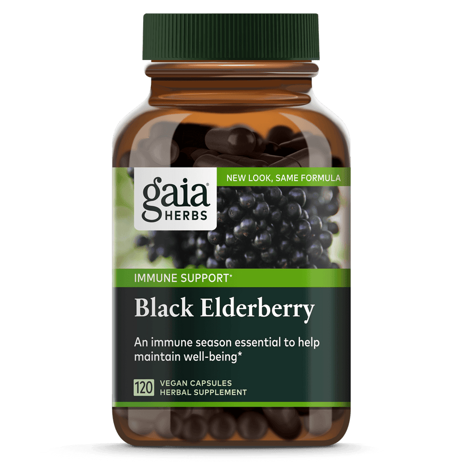 Gaia Herbs Black Elderberry for Immune Support || 120 ct