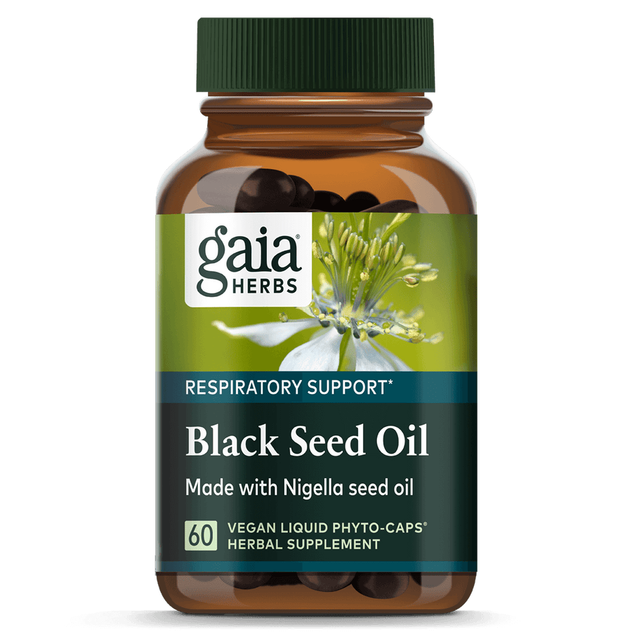 Gaia Herbs Black Seed Oil for Respiratory Support