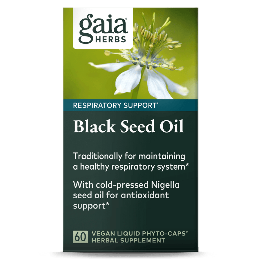 Gaia Herbs Black Seed Oil for Respiratory Support || 60 ct