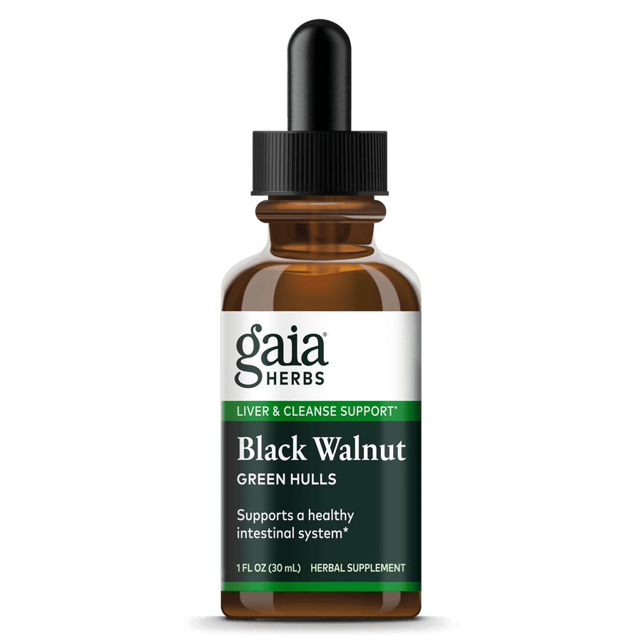 Gaia Herbs Black Walnut Green Hulls for Digestive Support || 1 oz