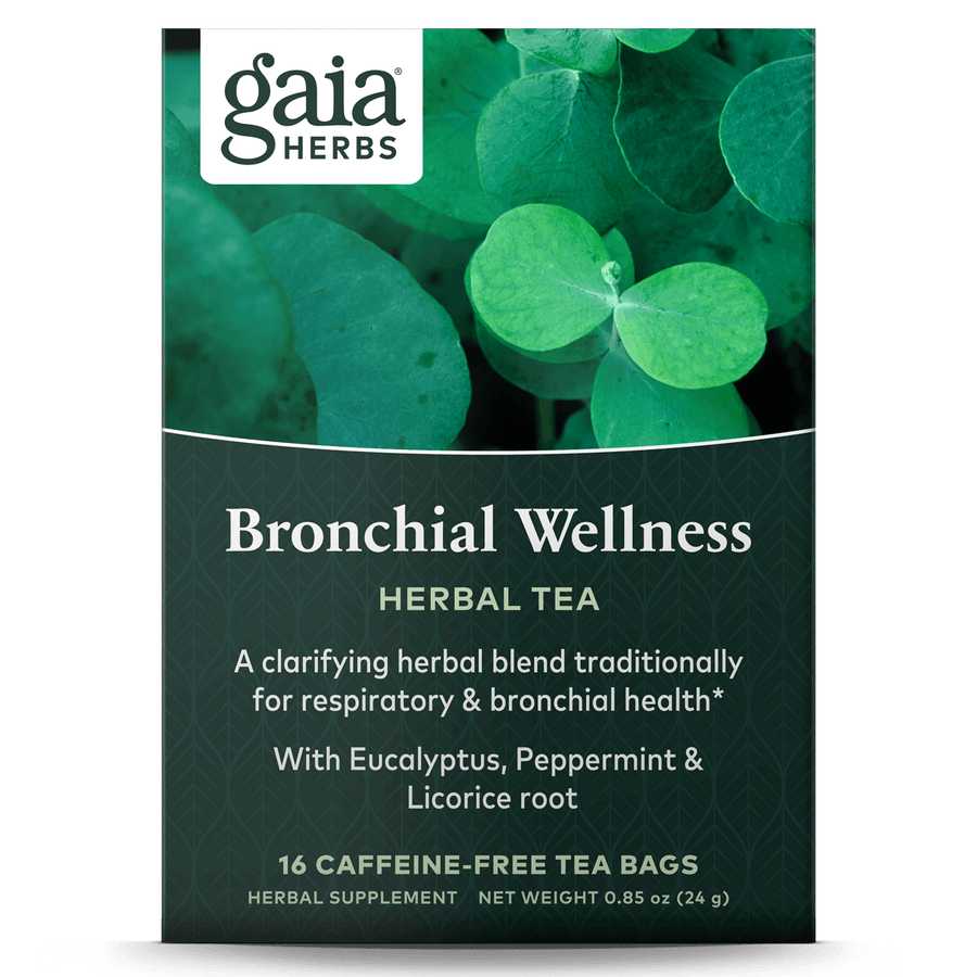 Gaia Herbs Bronchial Wellness Herbal Tea for Immune Support || 16 ct
