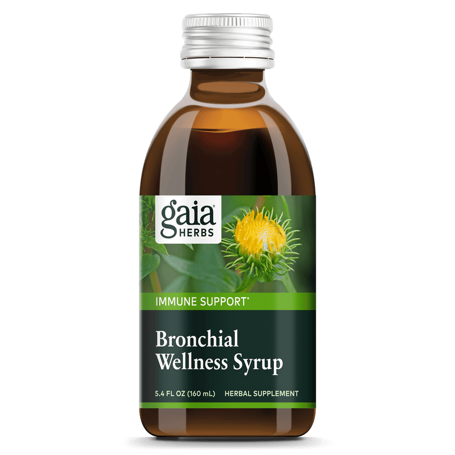 Gaia Herbs Bronchial Wellness Herbal Syrup for Immune Support || 5.4 oz