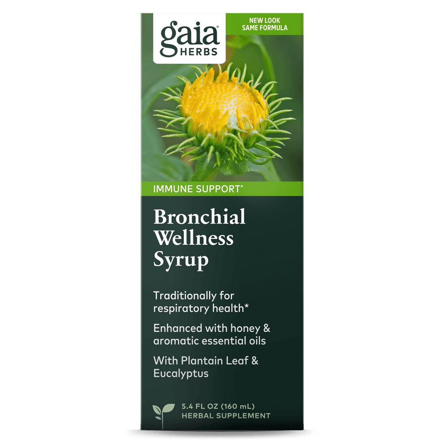 Gaia Herbs Bronchial Wellness Herbal Syrup carton front || 5.4 oz
